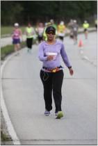 Angie's Half Crazy Half Marathon 4-7-13 burning up