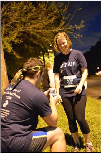 Angie's Half Crazy Half Marathon proposal 4-7-13