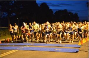 Angie's Half Crazy Half Marathon starting in the dark 4-7-13