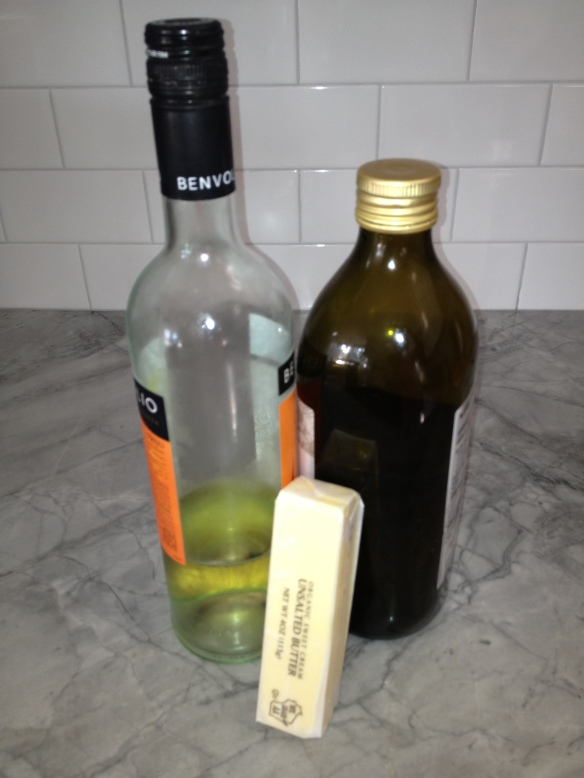 My new enemies - wine, butter and oil.